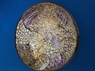 雑貨 ココナッツ小物入れ 紫