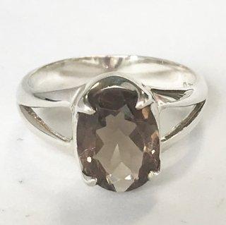 天然石アクセサリー 指輪 スモーキークォーツ #9