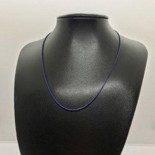 合皮ネックレス シルバー925製金具 41cm 青色