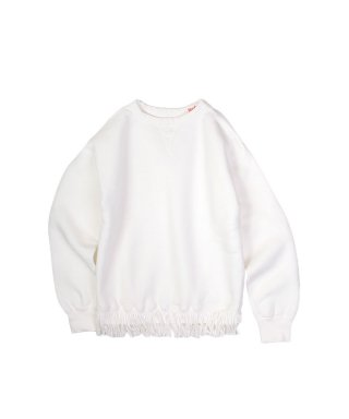 YOUNG & OLSEN TWISTED V FRINGE SWEAT