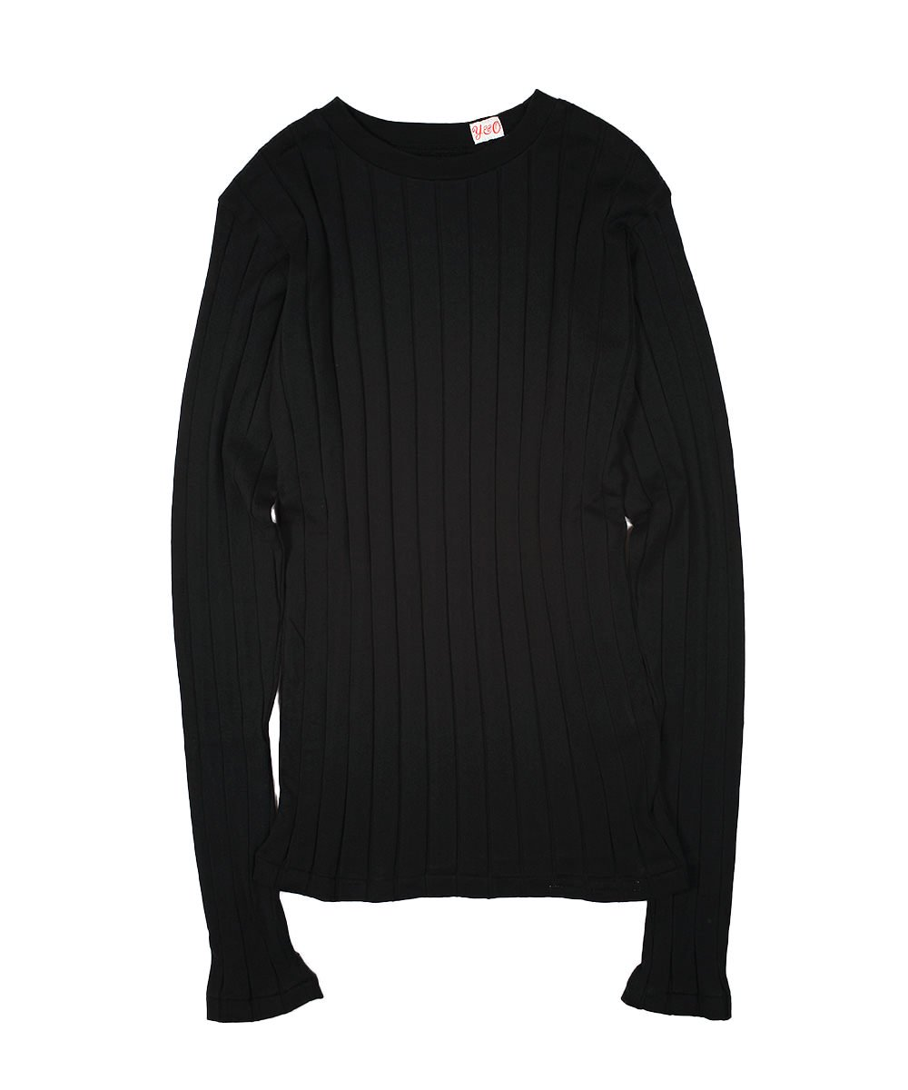 BROAD RIB CREW NECK LS