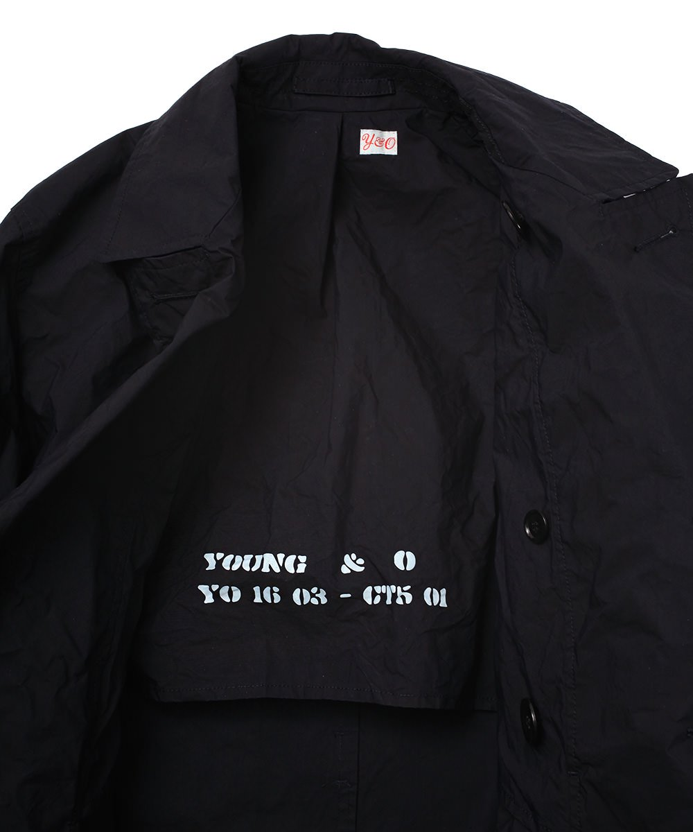 NYLON DENIM RAINCOAT
