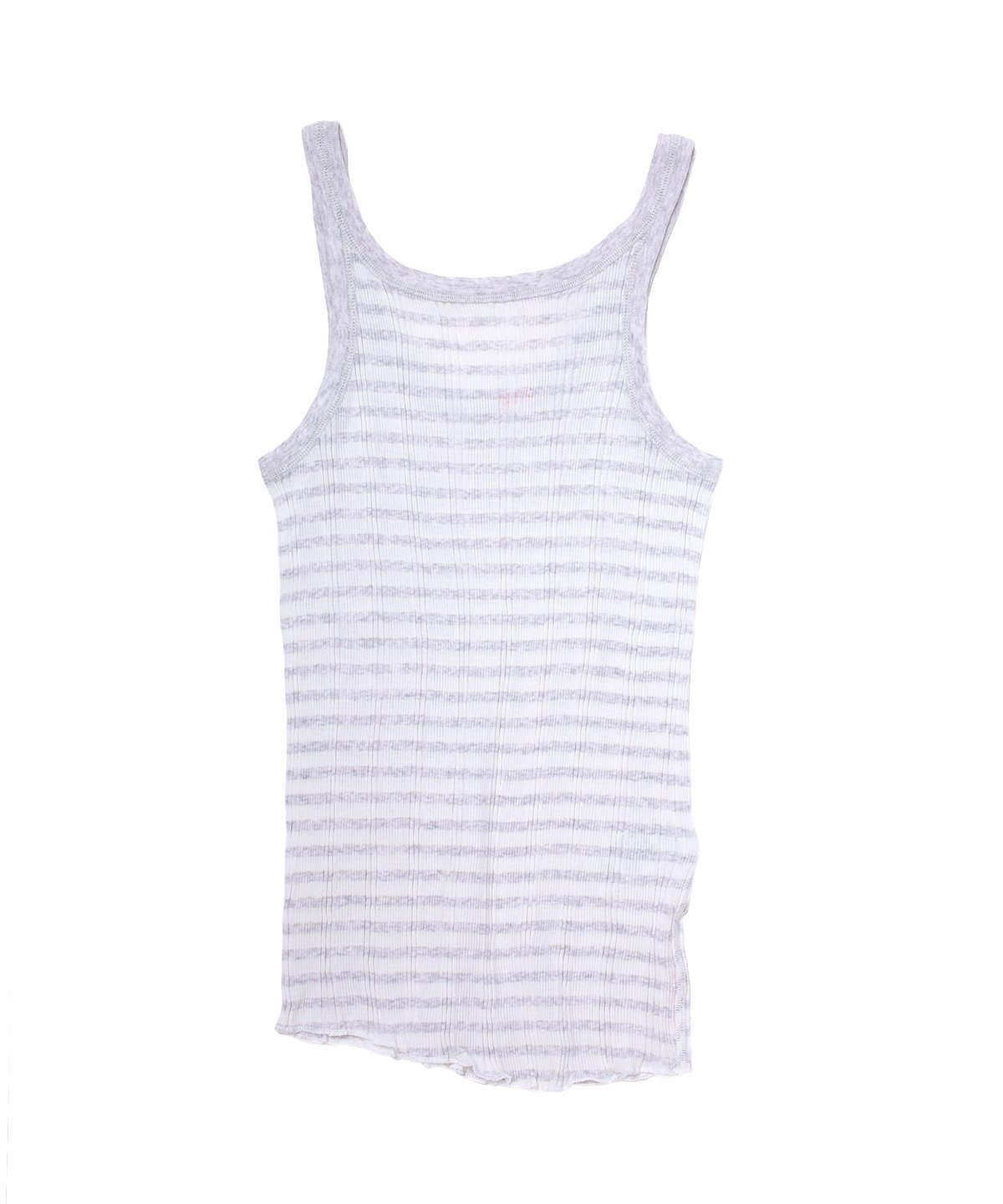 STRIPE RANDOM RIB BACKWARDS TANKTOP