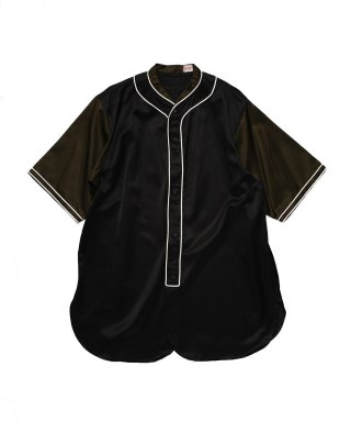 YOUNG & OLSEN SATIN BASEBALL SHIRT