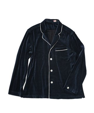 YOUNG & OLSEN VELOUR PYJAMA SHIRT