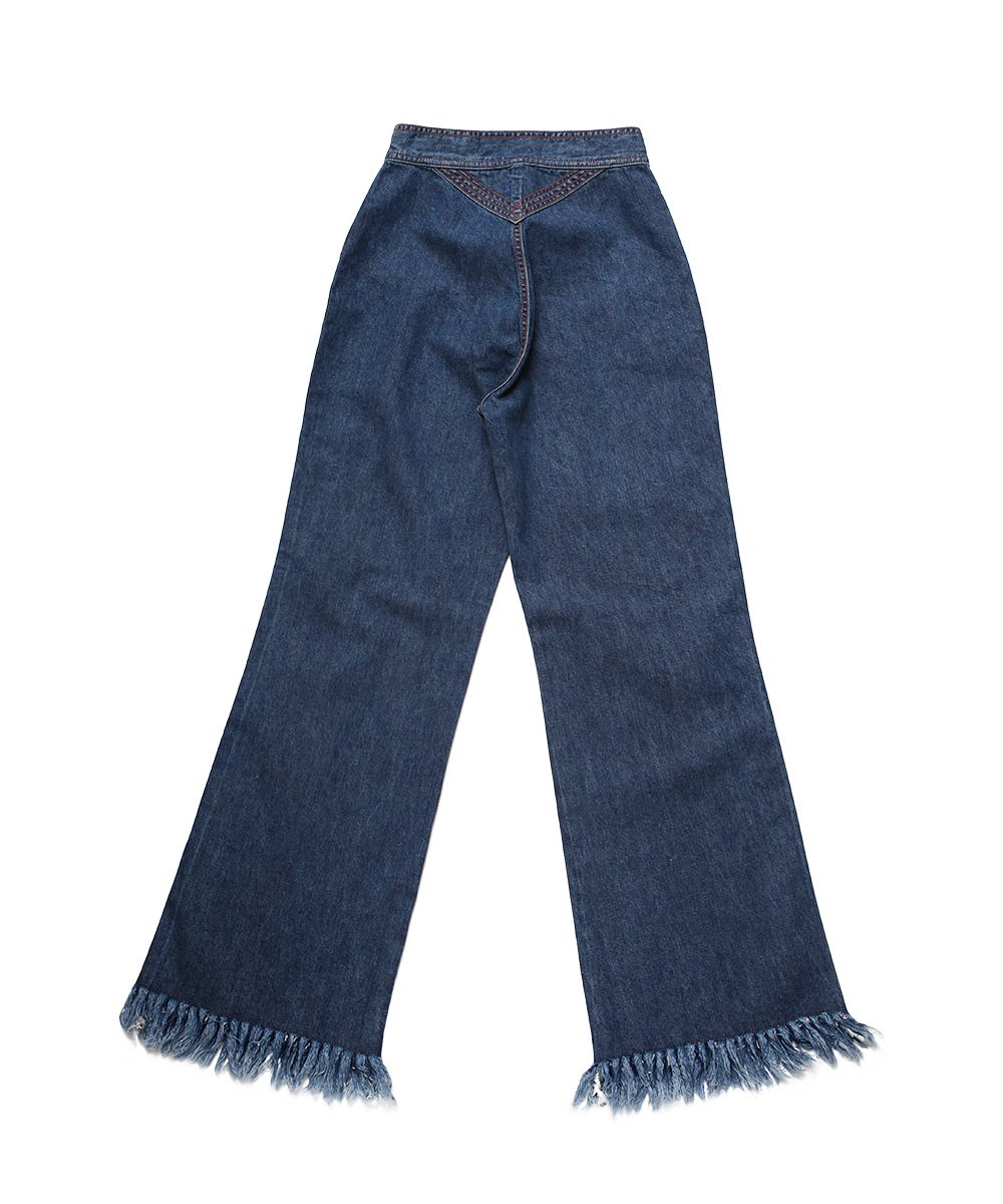 70'S FRINGE JEANS (WASHED OUT)