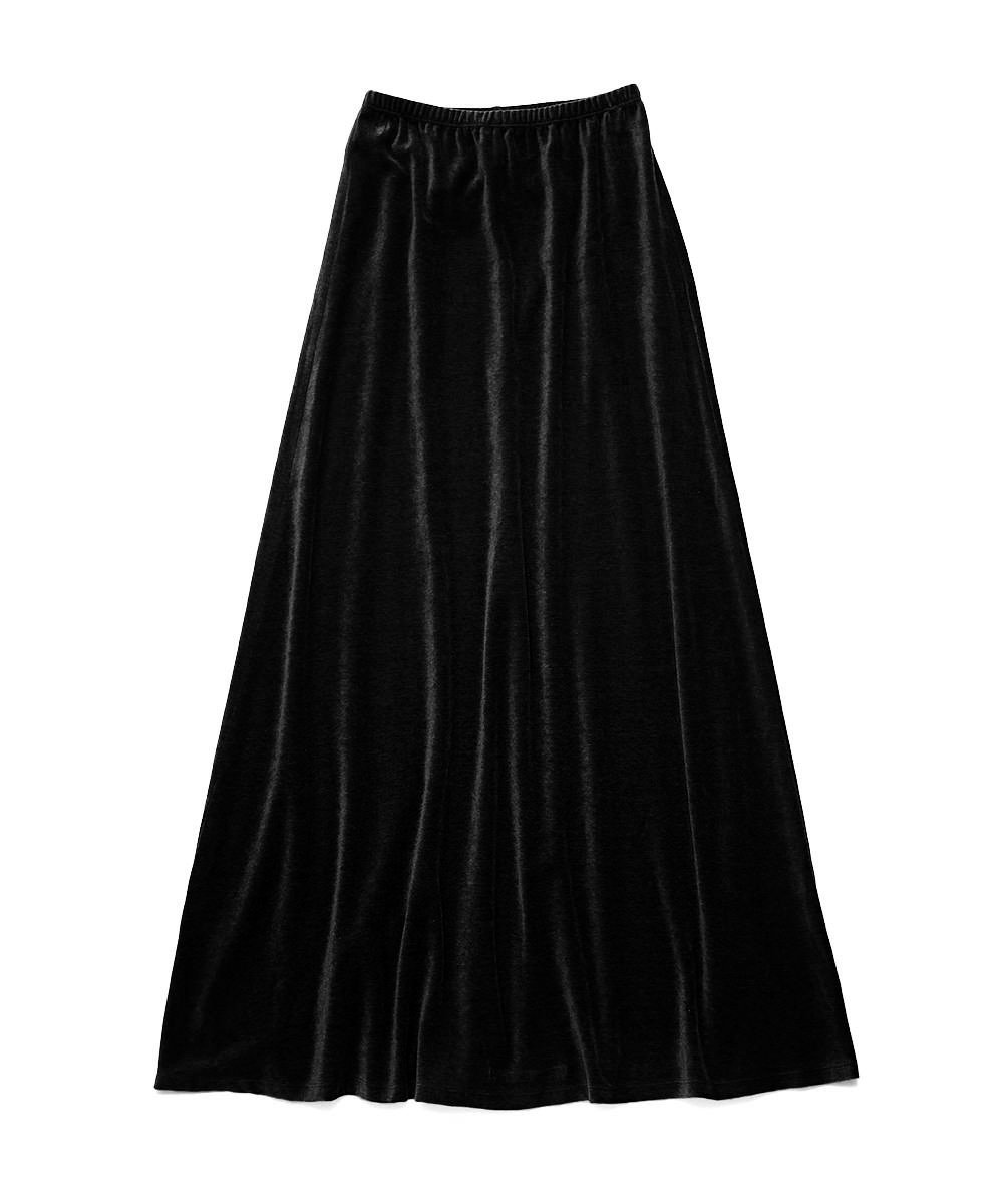 SIMPLE VELOUR SKIRT