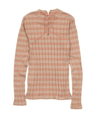 BROAD RIB BACKLACE LS