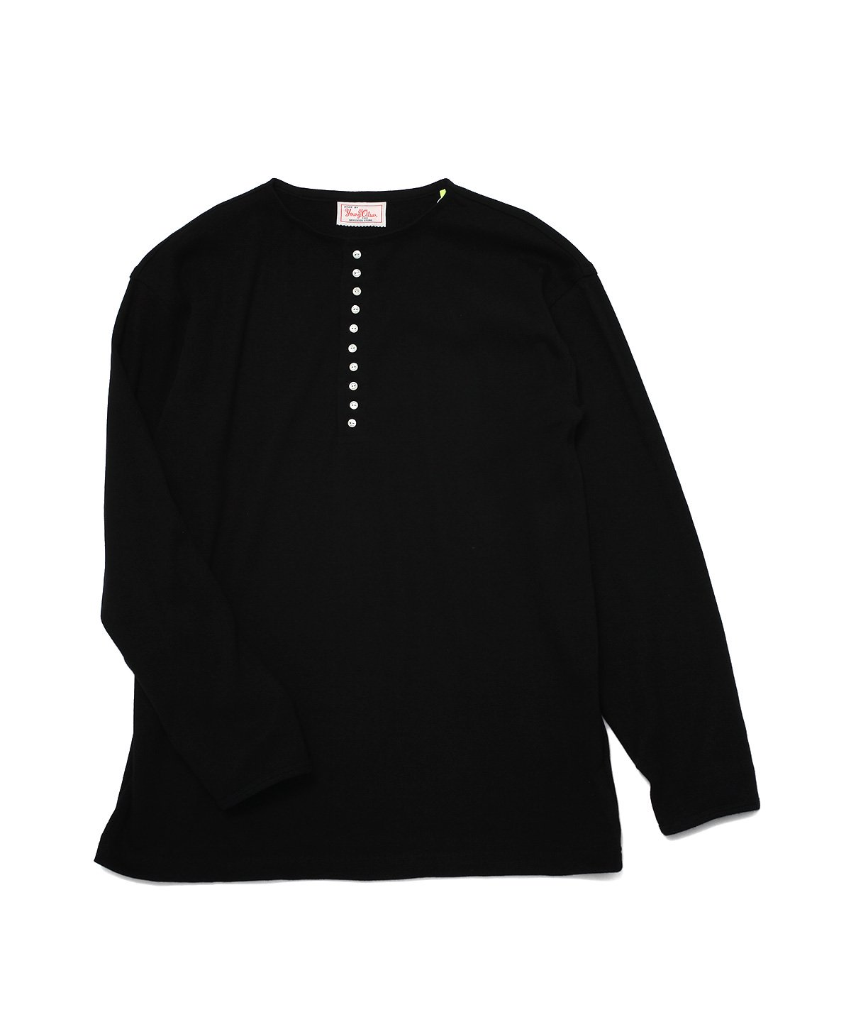 COTTON WOOL RIB HENLEY