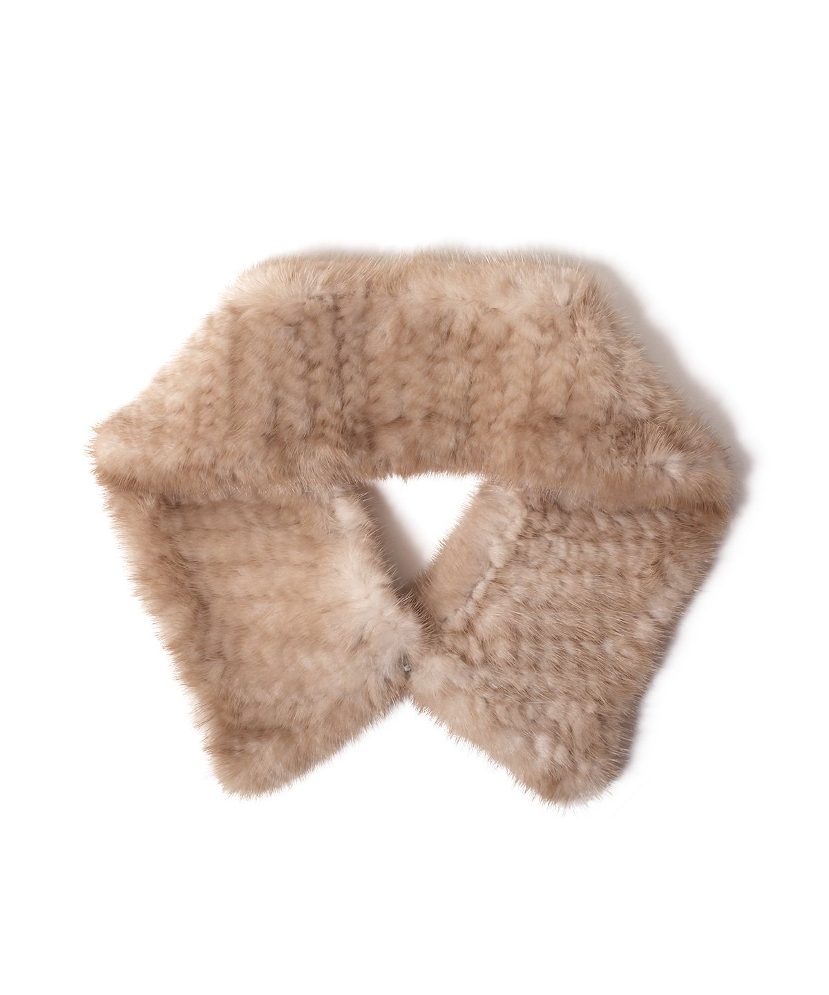 MINK YARN FUR COLLAR