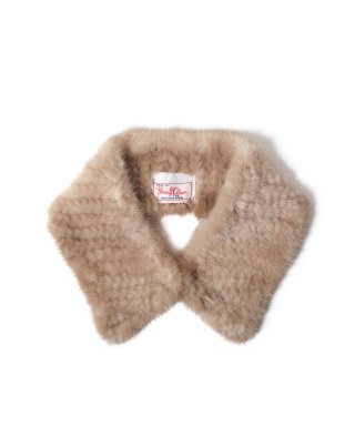 YOUNG & OLSEN MINK YARN FUR COLLAR