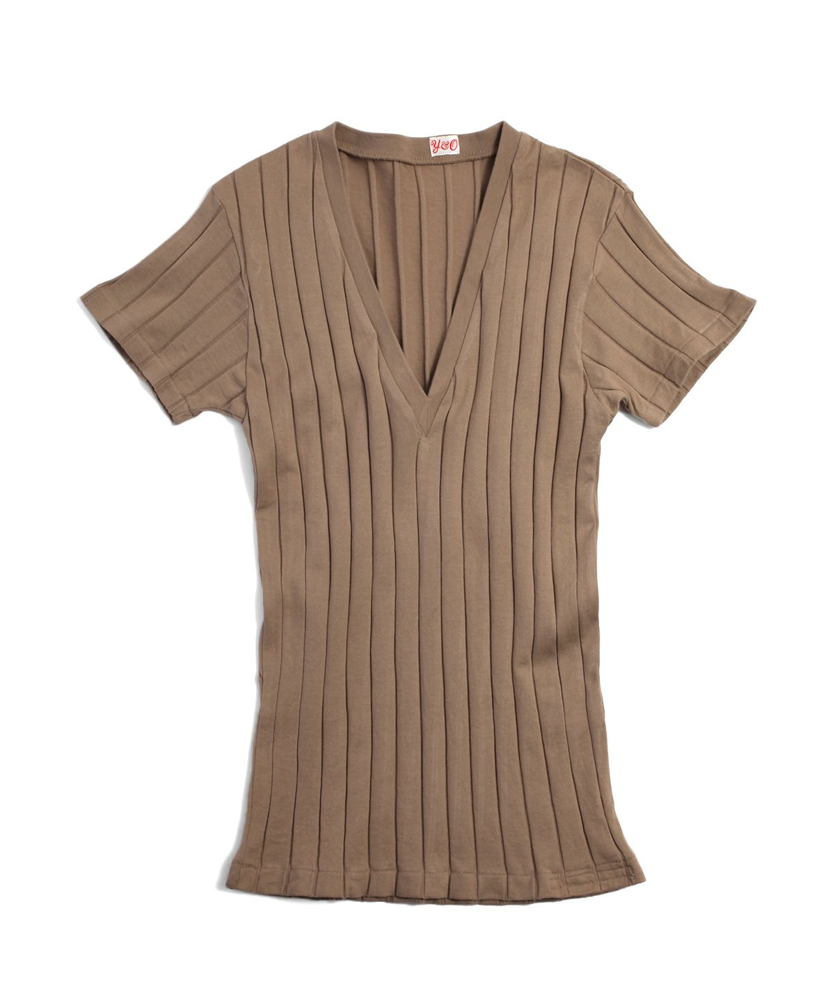 BROAD RIB V NECK