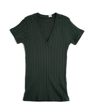 YOUNG & OLSEN BROAD RIB V NECK