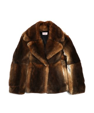 YOUNG & OLSEN REX FUR FRENCH COAT