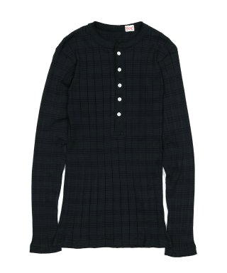 YOUNG & OLSEN BROAD RIB HENLEY NECK LS
