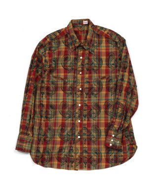 YOUNG & OLSEN MADRAS WESTERN SHIRT