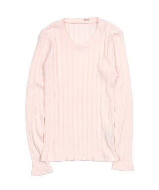 YOUNG & OLSEN BROAD RIB U-NECK LS