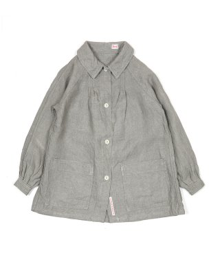YOUNG & OLSEN LINEN PLEATED JACKET