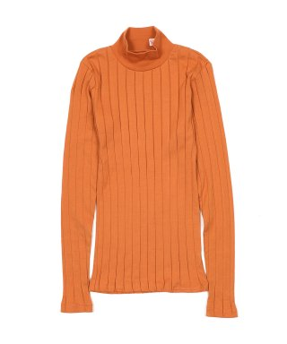 YOUNG & OLSEN BROAD RIB HI NECK LS