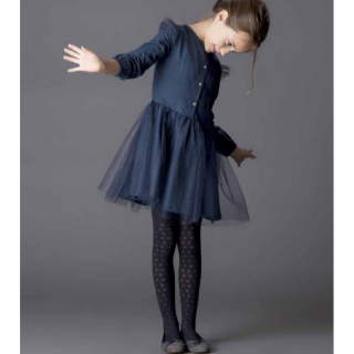 <img class='new_mark_img1' src='//img.shop-pro.jp/img/new/icons20.gif' style='border:none;display:inline;margin:0px;padding:0px;width:auto;' />50%OFF tocoto vintage tulle kid dress navy