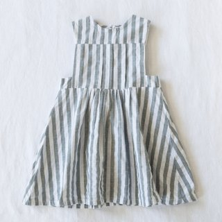 17ss Yoli&Otis YLVA DRESS (Olive/White Stripe)