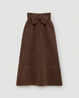 <img class='new_mark_img1' src='//img.shop-pro.jp/img/new/icons14.gif' style='border:none;display:inline;margin:0px;padding:0px;width:auto;' />17aw TAO BIRD KIDS KNIT SKIRT DEEP BROWN