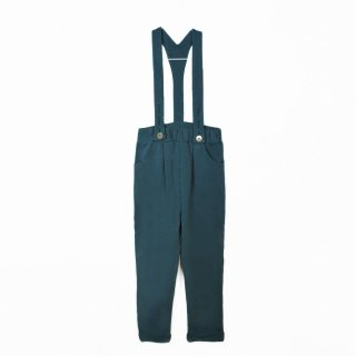 17aw Le Petit Germain GOJI Fleece Braces Trousers / Smocked Green