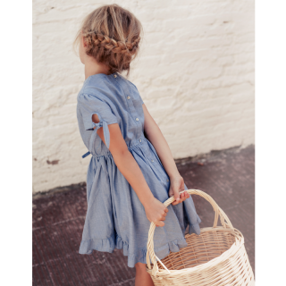 <img class='new_mark_img1' src='//img.shop-pro.jp/img/new/icons14.gif' style='border:none;display:inline;margin:0px;padding:0px;width:auto;' />18ss tocoto vintage CHAMBRAY GIRL DRESS