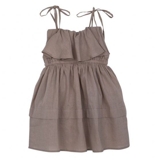 5d4a044ca582a 18ss Bebe Organic ANNA DRESS   Taupe LILY SOURIRE インポート子供服 通販