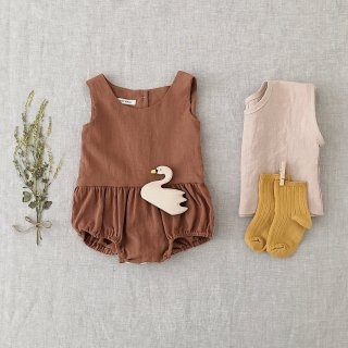 <img class='new_mark_img1' src='//img.shop-pro.jp/img/new/icons14.gif' style='border:none;display:inline;margin:0px;padding:0px;width:auto;' />SOOR PLOOM 18ss Lois Playsuit, Terracotta