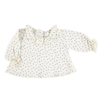 <img class='new_mark_img1' src='//img.shop-pro.jp/img/new/icons14.gif' style='border:none;display:inline;margin:0px;padding:0px;width:auto;' />18AW tocoto vintage FLOWERS BABY BLOUSE