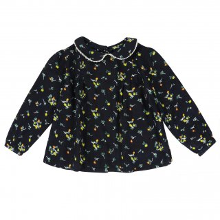 <img class='new_mark_img1' src='//img.shop-pro.jp/img/new/icons14.gif' style='border:none;display:inline;margin:0px;padding:0px;width:auto;' />18AW Little Cotton Clothes Wendy Blouse / Indigo Floral