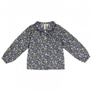 <img class='new_mark_img1' src='//img.shop-pro.jp/img/new/icons14.gif' style='border:none;display:inline;margin:0px;padding:0px;width:auto;' />18AW Little Cotton Clothes Annie Blouse / Blue Floral