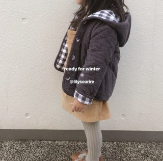 <img class='new_mark_img1' src='//img.shop-pro.jp/img/new/icons14.gif' style='border:none;display:inline;margin:0px;padding:0px;width:auto;' />18AW Little Cotton Clothes Jojo Reversible Coat / Charcoal Gingham