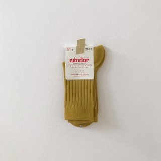 <img class='new_mark_img1' src='//img.shop-pro.jp/img/new/icons14.gif' style='border:none;display:inline;margin:0px;padding:0px;width:auto;' />CONDOR ribbed short socks curry