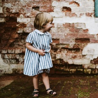 <img class='new_mark_img1' src='https://img.shop-pro.jp/img/new/icons14.gif' style='border:none;display:inline;margin:0px;padding:0px;width:auto;' />19SS Little Cotton Clothes Ida Dress Blue Stripe