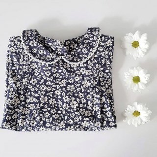 <img class='new_mark_img1' src='//img.shop-pro.jp/img/new/icons14.gif' style='border:none;display:inline;margin:0px;padding:0px;width:auto;' />19SS Little Cotton Clothes Mabel Blouse Blue Floral