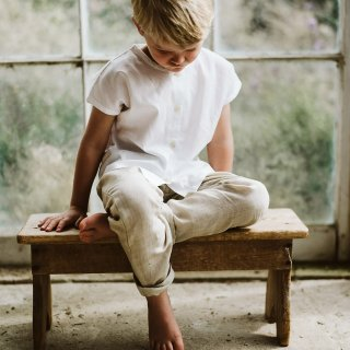 <img class='new_mark_img1' src='https://img.shop-pro.jp/img/new/icons14.gif' style='border:none;display:inline;margin:0px;padding:0px;width:auto;' />19SS Little Cotton Clothes Tenby Trousers  Linen Natural