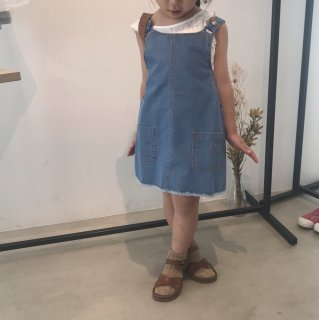 <img class='new_mark_img1' src='//img.shop-pro.jp/img/new/icons14.gif' style='border:none;display:inline;margin:0px;padding:0px;width:auto;' />19ss tocoto vintage Denim pinafore dress