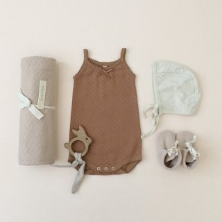<img class='new_mark_img1' src='https://img.shop-pro.jp/img/new/icons14.gif' style='border:none;display:inline;margin:0px;padding:0px;width:auto;' />19SS Quincy Mae Pointelle Tank Onesie / Copper