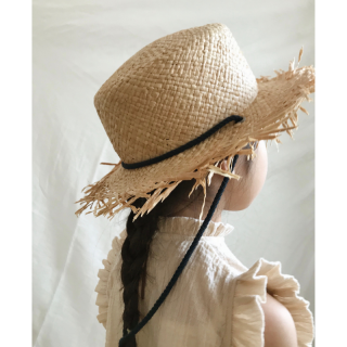 <img class='new_mark_img1' src='https://img.shop-pro.jp/img/new/icons14.gif' style='border:none;display:inline;margin:0px;padding:0px;width:auto;' />19SS east end highlanders Flutter Straw Hat - Natural/Navy