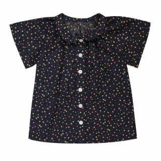<img class='new_mark_img1' src='//img.shop-pro.jp/img/new/icons14.gif' style='border:none;display:inline;margin:0px;padding:0px;width:auto;' />19SS Capsule Little Cotton Clothes Pippa Blouse Navy