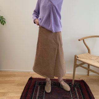 <img class='new_mark_img1' src='https://img.shop-pro.jp/img/new/icons14.gif' style='border:none;display:inline;margin:0px;padding:0px;width:auto;' />THE BIBIO PROJECT<BR>WRAP SKIRT / TOASTED COCONUT<BR>(for womans)