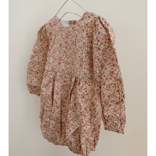 <img class='new_mark_img1' src='https://img.shop-pro.jp/img/new/icons14.gif' style='border:none;display:inline;margin:0px;padding:0px;width:auto;' />19AW Little Cotton Clothes<BR>Constance  Romper / Pink Floral