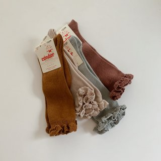<img class='new_mark_img1' src='https://img.shop-pro.jp/img/new/icons14.gif' style='border:none;display:inline;margin:0px;padding:0px;width:auto;' />CONDOR<BR>knee socks with lace edging cuff