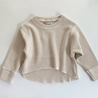 <img class='new_mark_img1' src='https://img.shop-pro.jp/img/new/icons14.gif' style='border:none;display:inline;margin:0px;padding:0px;width:auto;' />19AW the new society<BR>Waffle sweater / ecru