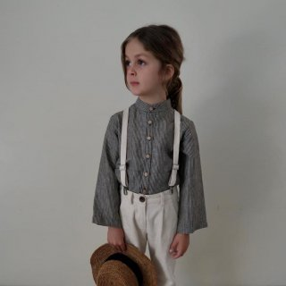 <img class='new_mark_img1' src='https://img.shop-pro.jp/img/new/icons14.gif' style='border:none;display:inline;margin:0px;padding:0px;width:auto;' />House of Paloma<BR>Emile Shirt / Fumee Stripe Linen