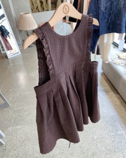 <img class='new_mark_img1' src='https://img.shop-pro.jp/img/new/icons14.gif' style='border:none;display:inline;margin:0px;padding:0px;width:auto;' />himher apron dress / brown dot