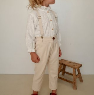 <img class='new_mark_img1' src='https://img.shop-pro.jp/img/new/icons14.gif' style='border:none;display:inline;margin:0px;padding:0px;width:auto;' />House of Paloma - Jean Michel Tailored Suspender Pant  / Naturel Ecru