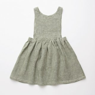 <img class='new_mark_img1' src='https://img.shop-pro.jp/img/new/icons14.gif' style='border:none;display:inline;margin:0px;padding:0px;width:auto;' />Nellie Quats - Marlow Pinafore / Green Check Linen